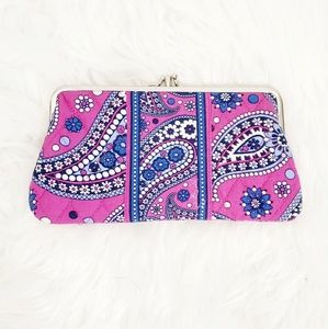Vera Bradley Floral Paisley Quilted Wallet Clutch